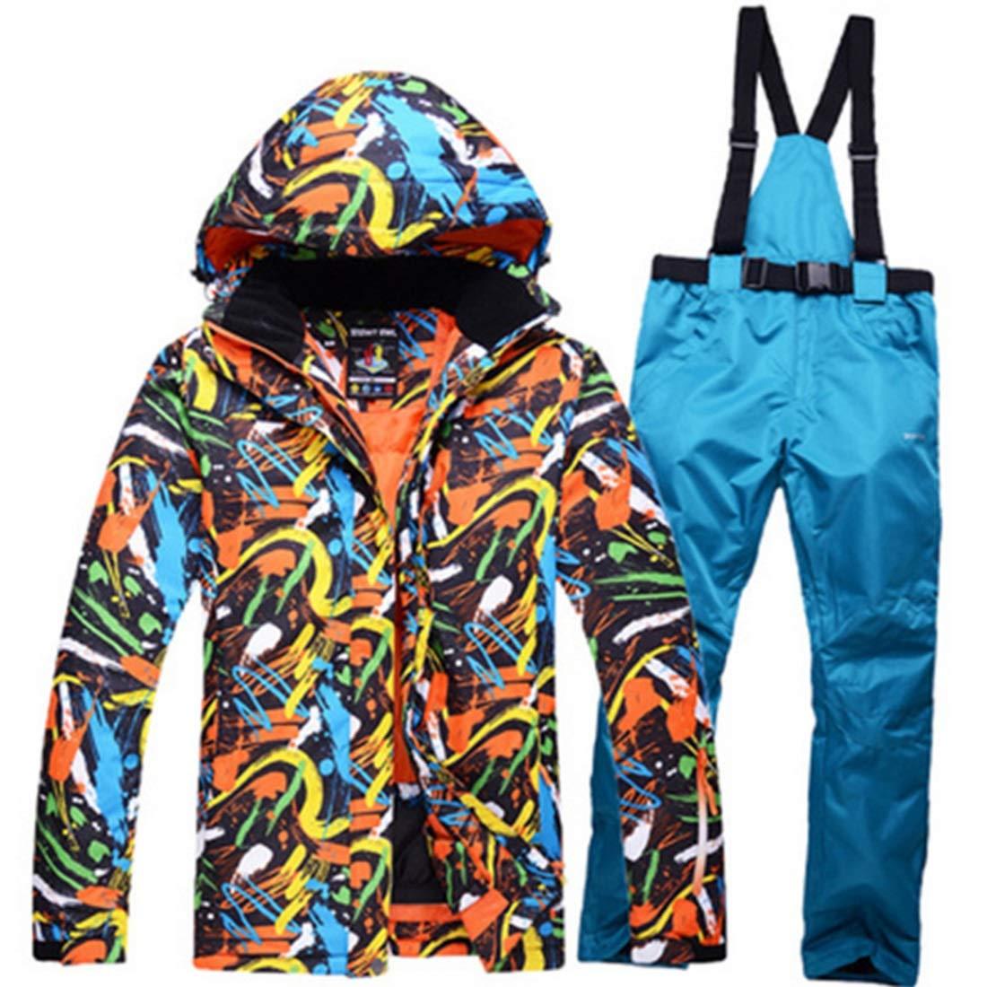 Farbe : 05, Size : L FELICIG Herren Schneeanzug Winter Ski Jacke und Hose Set