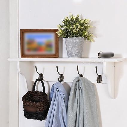 Amazon.com: Solid Wooden Coat Rack / Wall Door Hanging ...