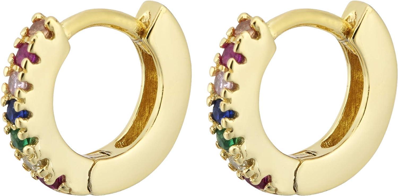petit anneau Taille 10mm Brandlinger /® Atelier boucles doreille dargent sterling 925 dor/é pour femmes//enfants avec pierres de zircone