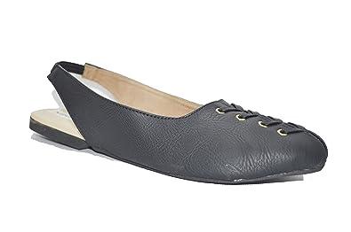 f29b2b5ace1 SHOEZZER Women Black Rivington Logo Slingback Mule  Amazon.in  Shoes ...
