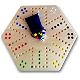 """Maple Hand-painted Double-sided Aggravation Game Board, 16"""" Wide"""
