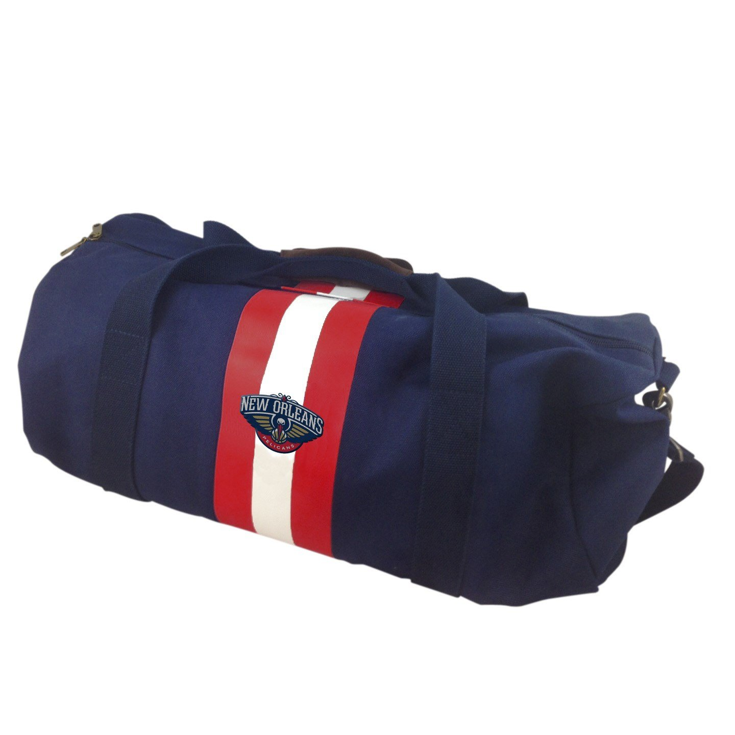 NBA New Orleans Pelicans Blue Rugby Duffel Bag by Pangea Brands (Image #1)