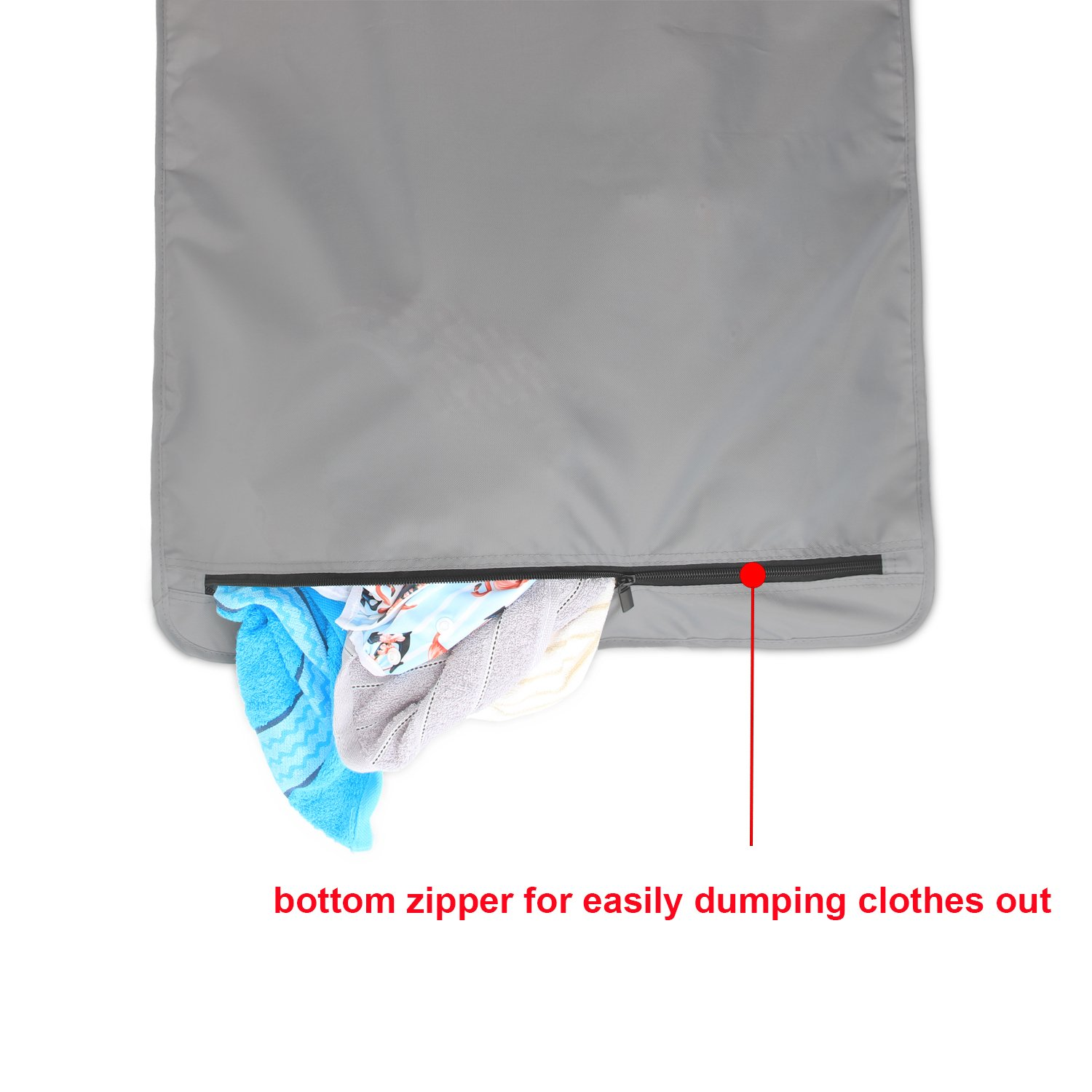 Amazon.com: LUXJA Adjustable Hanging Laundry Hamper with 2 Stainless Steel Hooks, Laundry Hamper Bag, Gray: Home & Kitchen