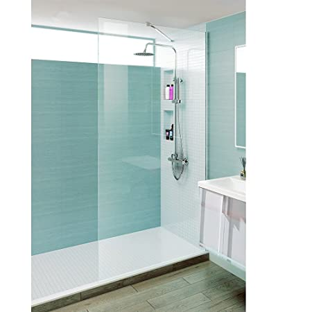 8mm Walk in Wet Room Screen Shower Enclosure Cubicle Tall Glass Screen Panel