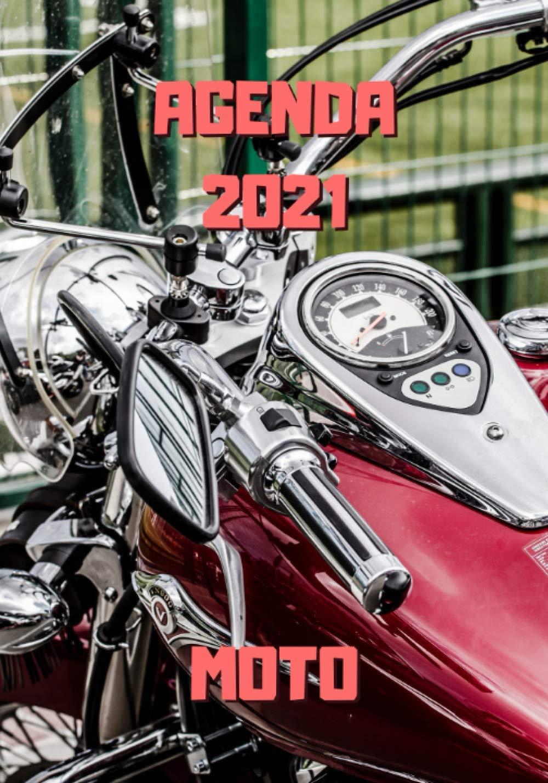 Agenda 2021 moto: Moto rouge   Agenda semainier 2021 moto   12