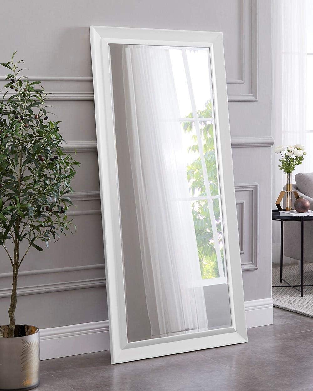 Naomi Home Framed Bevel Leaner Mirror White 66 x 32