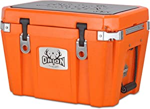 Orion Heavy Duty Premium Cooler (35 Quart, Ember), Durable Insulated Outdoor Ice Chest for Maximum Cold Retention - Portable, Bear Resistant, and Long Lasting, Great for Hunting, Fishing, Camping