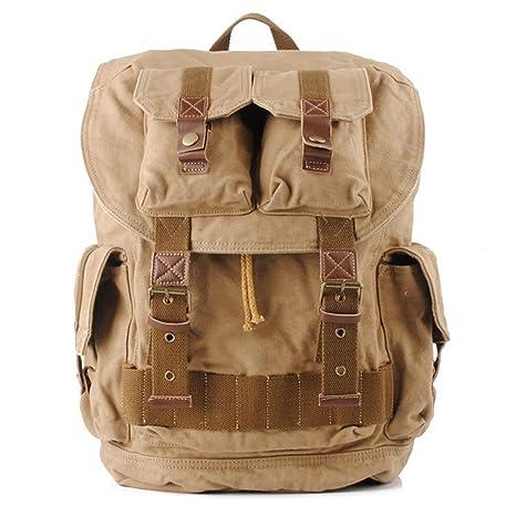 015eedcaaa PPGE Tela Zaini Vintage Zaino Uomo Donna Unisex Canvas Backpack Rucksack  Viaggio Zaino Trekking Zaini Trekking