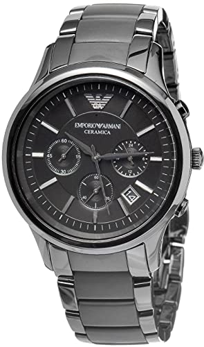 men s emporio armani ar1452 quartz black dial ceramic matte rh amazon co uk emporio armani watch user manual Emporio Armani Men's Classic Watch