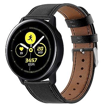 YuStar - Correa de Piel para Samsung Galaxy Watch Active ...