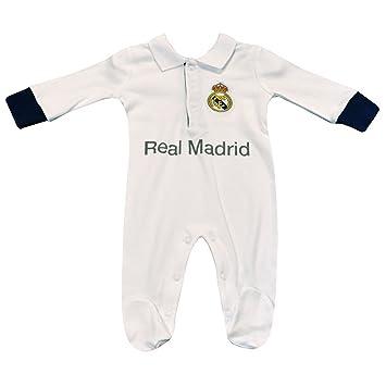 Pelele para bebé del Real Madrid, color blanco blanco blanco Talla:3-6m: Amazon.es: Deportes y aire libre