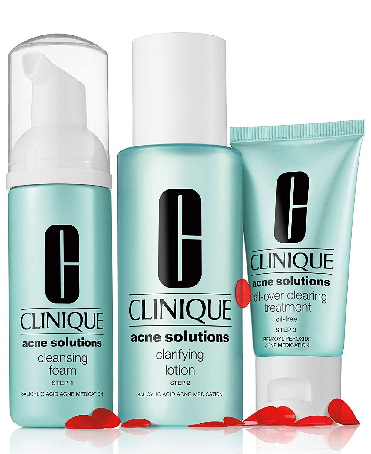 Amazon.com: Clinique Acne Solutions 3 Steps Clear Skin System All ...