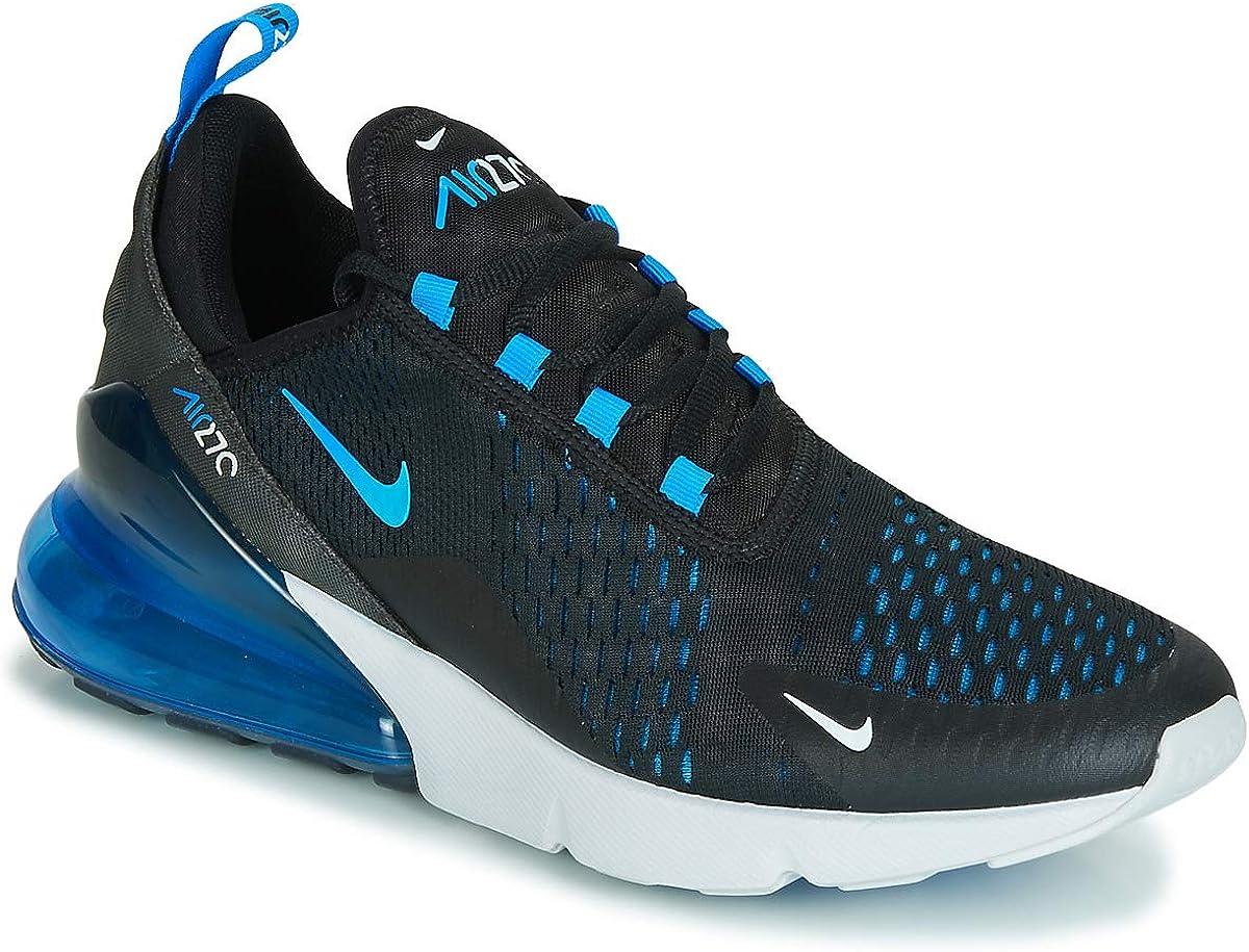 Amazon Com Nike Mens Air Max 270 Running Shoes Black Photo Blue