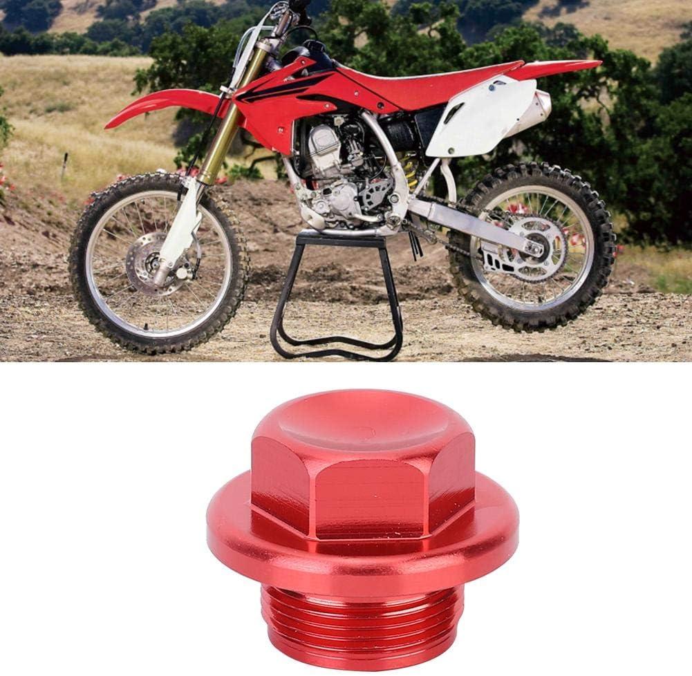 Red Carburetor Sump Bottom Screw Drain Plug Cap Carb Carb Drain Plug Fit for Yamaha Engine Red