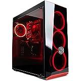 ★ゲーミングデスクトップPC Intel第8世代i5 8400プロセッサー搭載モデル/DDR4-8GB/HDD1TB/office/USB3.0対応/Win10/ゲーミングパソコン (GTX1050モデル, ブラック&赤色LED)