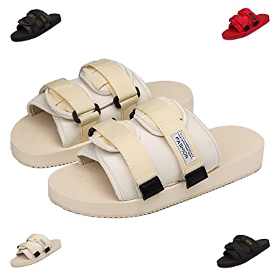 faa5f4416 Image Unavailable. Image not available for. Color  BARKOR Summer Mens  Sandals Slides Slippers Office Home ...