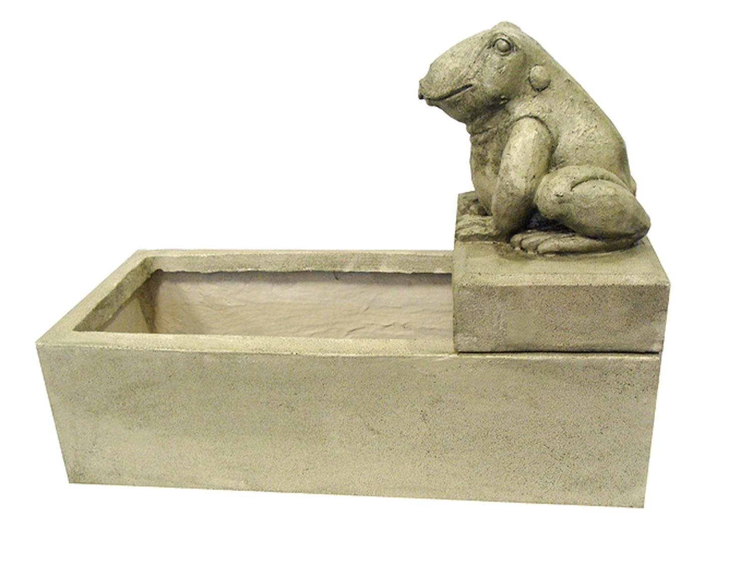 LB International 26'' Light Green Frog Outdoor Garden Water Fountain