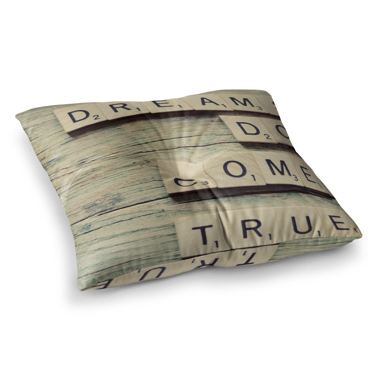 KESS InHouse Cristina Mitchell Dreams Wood Square Floor Pillow x 23''