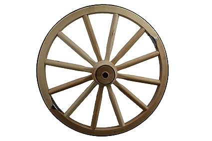 Amazoncom Amish Wares Decorative Wood Wagon Wheel 24 Inch X 1
