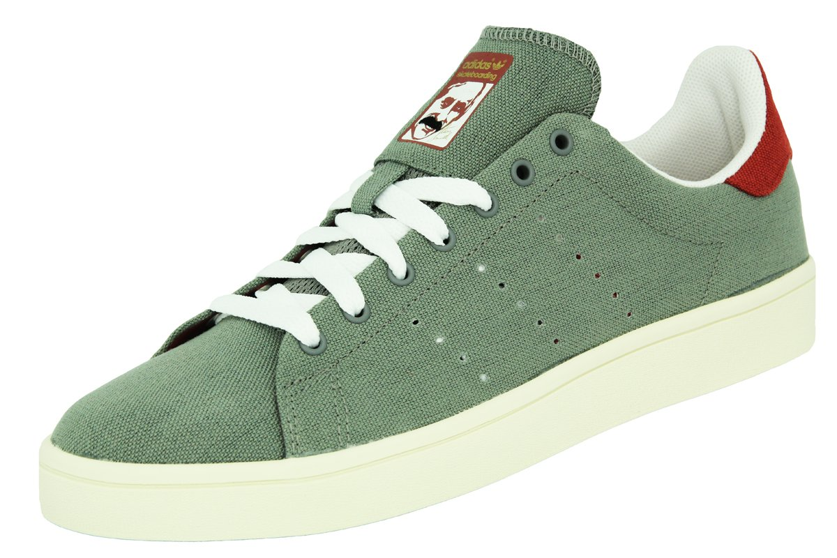adidas STAN SMITH VULC Grey Red Canvas Leather Men Sneakers Shoes   Amazon.co.uk  Sports   Outdoors b4c776de7