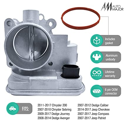 4891735AC Electronic Throttle Body with Mounting Gasket Fit For Chrysler Dodge Sebring Avenger Caliber Journey Compass Patriot Replace 4891735AB 4891735AD