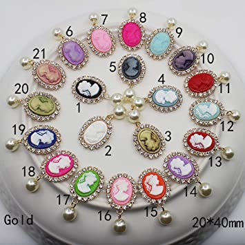 10Pc Metal Rhinestone Pendant Charms Jewelry DIY Necklace Earring Findings Craft