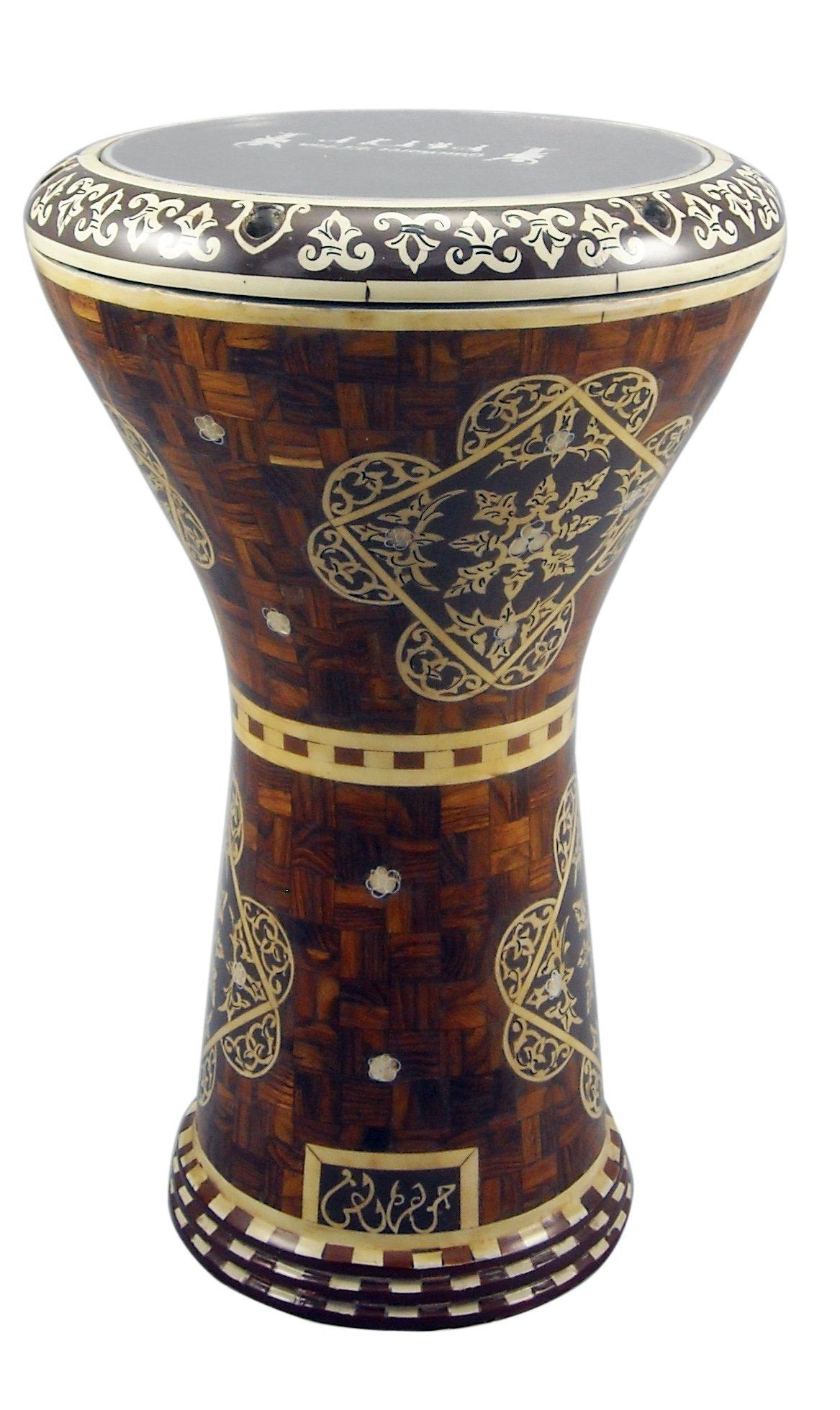 Gawharet El Fan Drum DOUMBEK 17'' Wooden Design Darbuka Gawharet El Fan Drum DOUMBEK