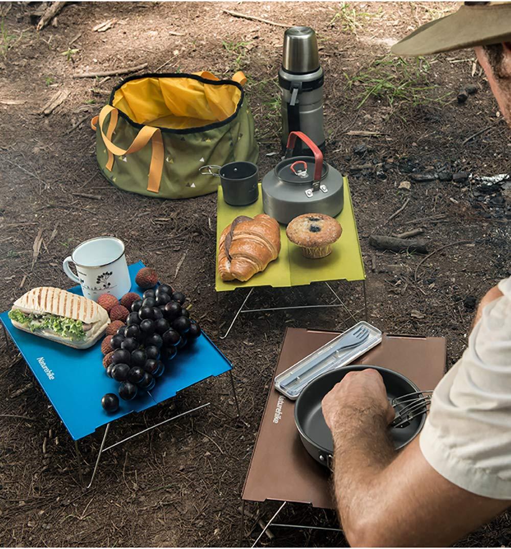 iBasingo Naturehike Mesa De Camping Plegable De Aluminio Mesa De Comedor Port/áTil Ultraligera Al Aire Libre Picnic Mini Mesa De T/é Mesa para Mochileros NH17Z001-L