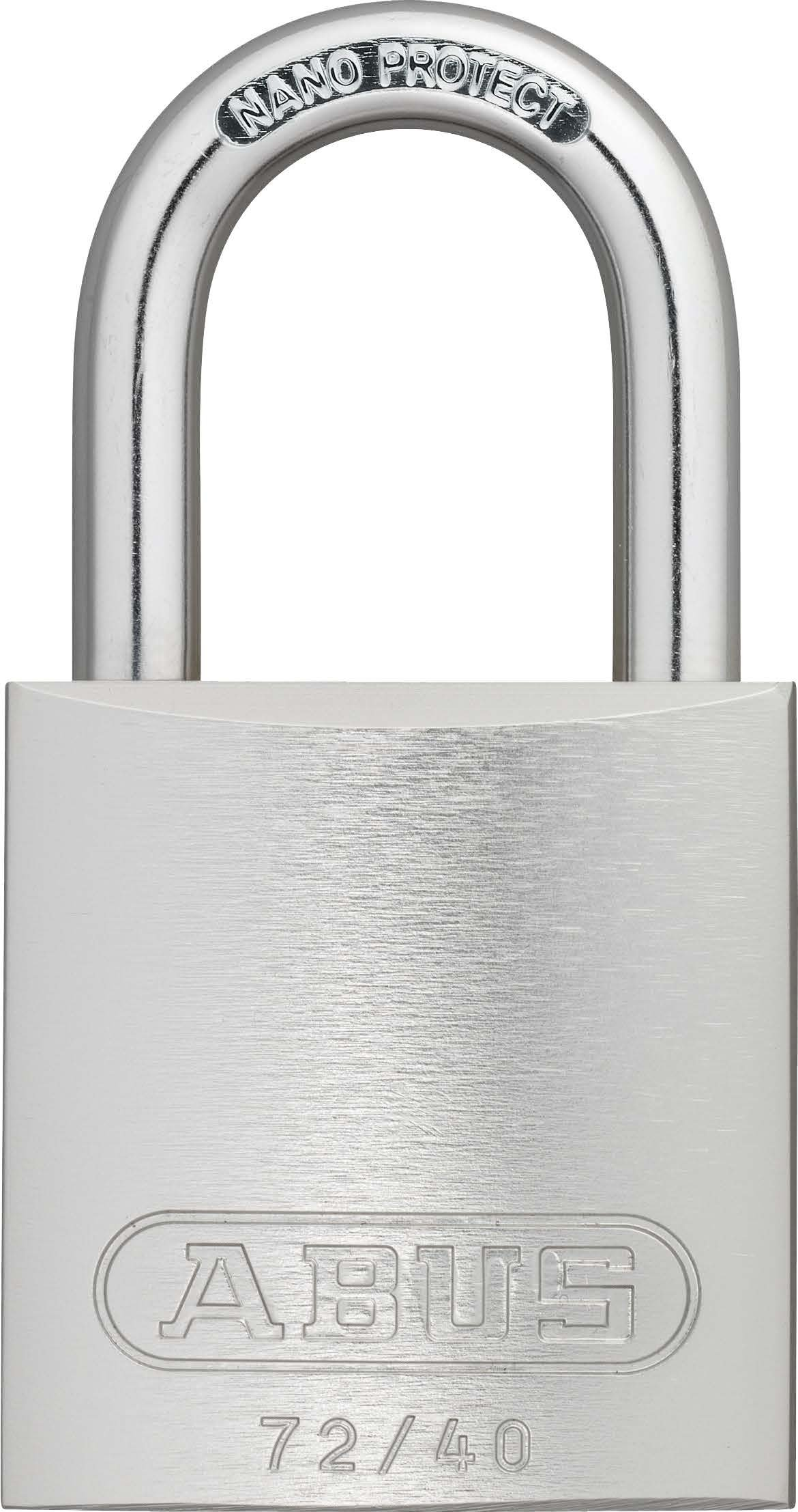 ABUS 72/40 KD Safety Lockout Aluminum Keyed Different Padlock with 1-Inch shackle, Silver
