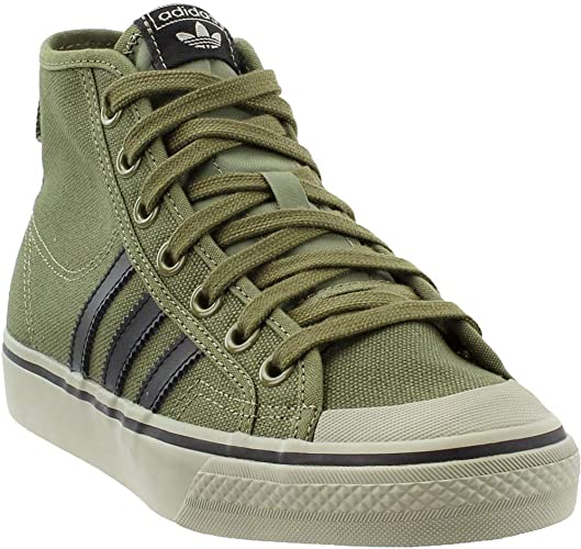 adidas mens CQ2366 Nizza Hi Green Size