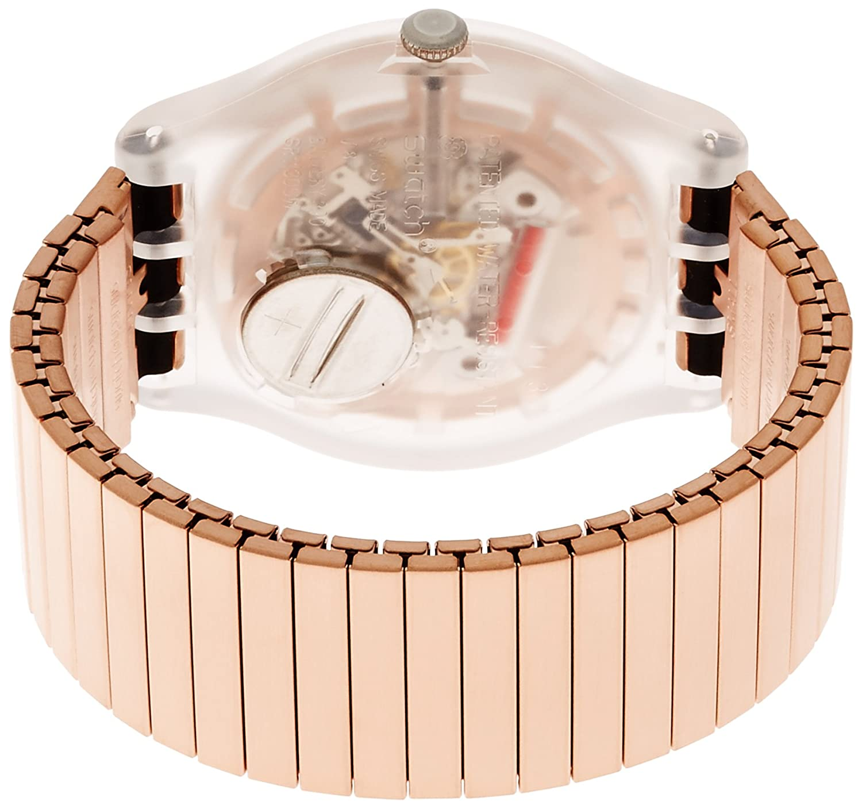 Amazon.com: Swatch Originals Rostfrei Rose Gold Dial Stainless Steel Unisex Watch SUOK707B: Watches