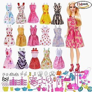 Babypuppen & Zubehör Puppen Kleidung Puppenkleidung Schuhe Set Puppen Klamotten Party 21 Pcs Neu Kleidung & Accessoires