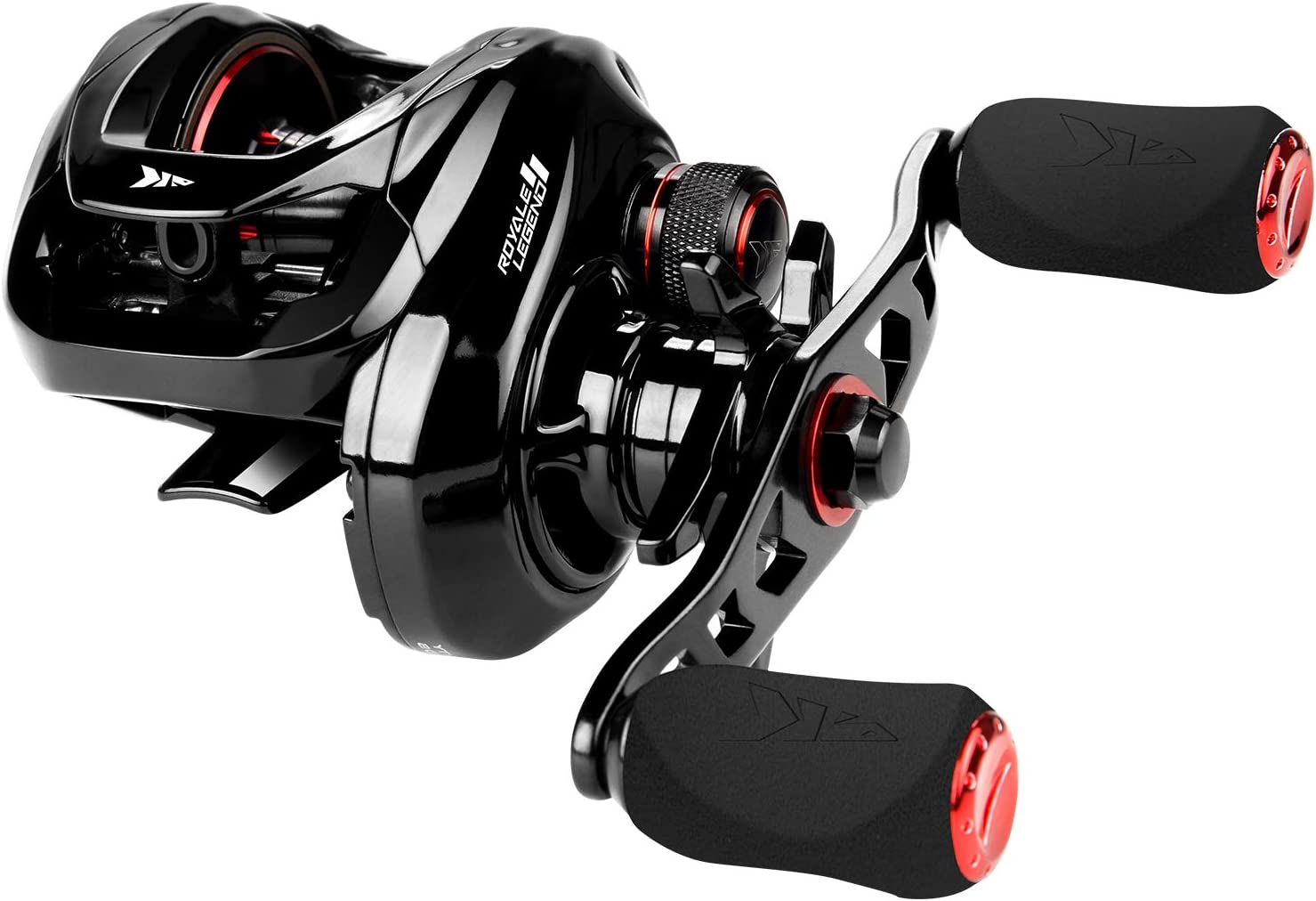 KastKing Royale Legend II Baitcasting Reel, New Compact Design Fishing Reel, Cross-Fire 8 Magnet Braking System, Available in 5.4:1 and 7.2:1 Gear Ratios