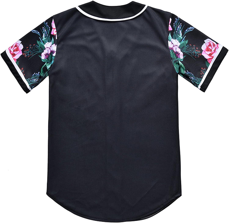PIZOFF Unisex Arc Bottom 3D Print Baseball Team Jersey Shirt