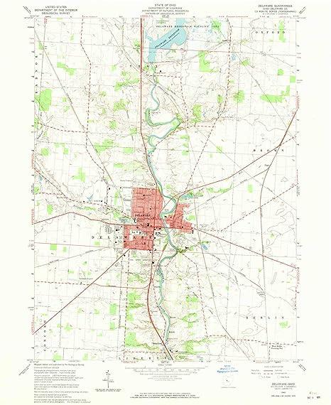 Amazon Com Yellowmaps Delaware Oh Topo Map 1 24000 Scale 7 5 X