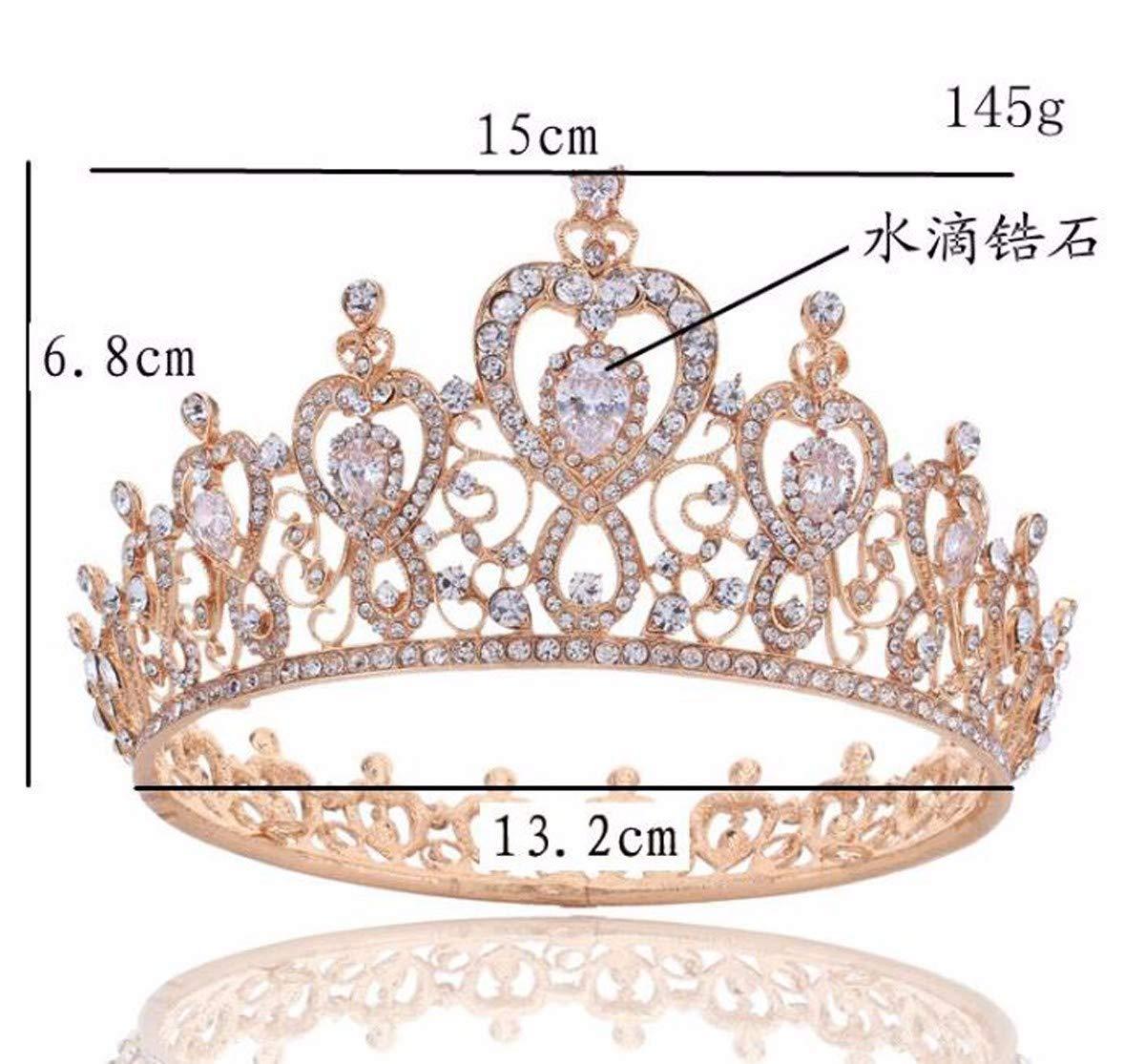 Wedding Crown, Beautiful headdress/Queen'S Baroque Crown Decorations Luxurious Zircon Bridal Crown Court Wedding Accessories