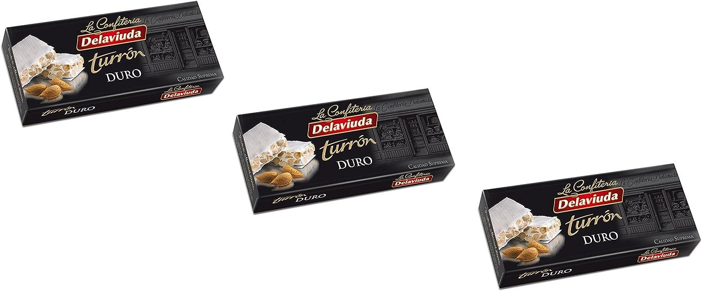 Delaviuda - Pack incluye 3 Turrón duro crujiente de Almendra - Calidad Suprema - 200gr (Sin Gluten): Amazon.es: Alimentación y bebidas