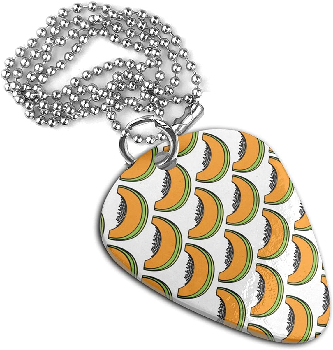Papayas Pattern Stainless Steel Guitar Pick Necklace Pendant Keychain