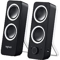 Logitech Z200 2.1 Lautsprecher mit Subwoofer (Surround Sound, 10 Watt Spitzenleistung, 2x 3,5mm Eingänge, Lautstärken-Regler, PC/TV/Smartphone/Tablet) midnight black