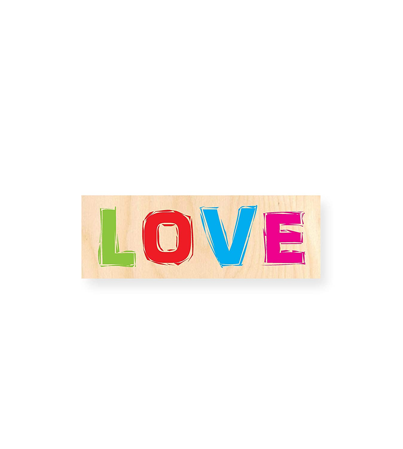 LOVE | Tabla de Madera impresa - Autoadhesiva: Amazon.es ...