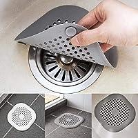 Lanren Shower Drain Cover,Anti-Clogging Filter Bathroom Drain Floor Sink Strainer Kitchen Tool,Bathtub Hair Catcher Drains & Strainers