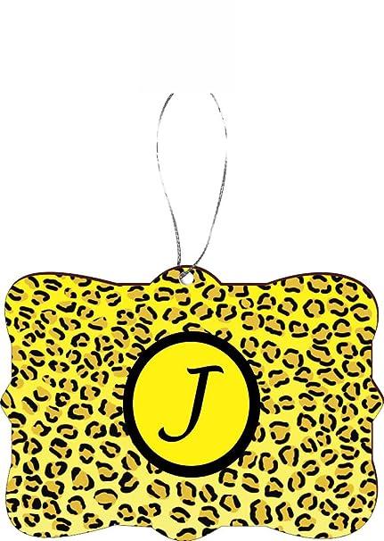 Amazon Com Rikki Knight Rkws Sqorn 2532 Letter J Yellow Leopard