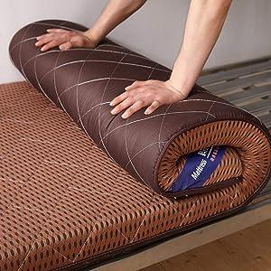 Sleeping Tatami Floor Mat, Breathable Futon Tatami Mattress Pad Soft Thick Japanese for Student Dormitory Mattress-c King