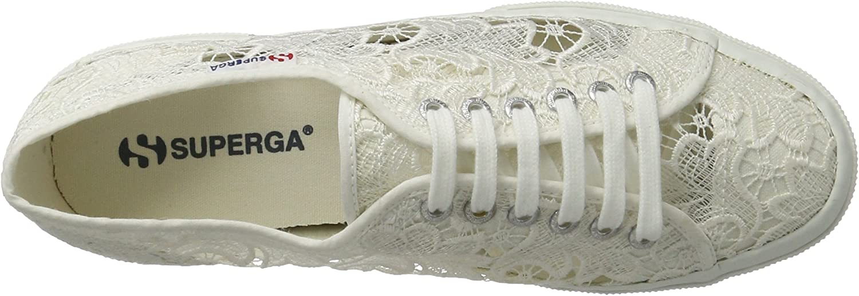 White Superga 2750 Macramew 41.5 EU White 7.5 UK Women/'s Low-Top Sneakers Low-Top Sneakers