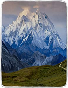 BEIVIVI USA Throw Blanket Weighted Blanket Denali (Also Known As Mount McKinley) Alaska USA Bed Blanket for Couch Bed Sofa, 40Wx60L