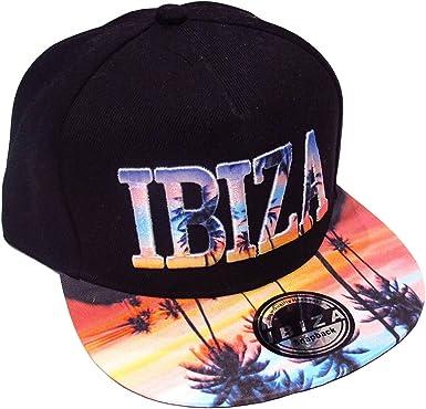 Ibiza Gorra Snapback Atardecer rosa Palmeras - Negro, Talla única ...