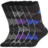 Merino Wool Socks for Men Lightweight ,Winter Therminal Wool Dress Socks ,Crew Socks, Sweat-wicking ,Black & Argyle…