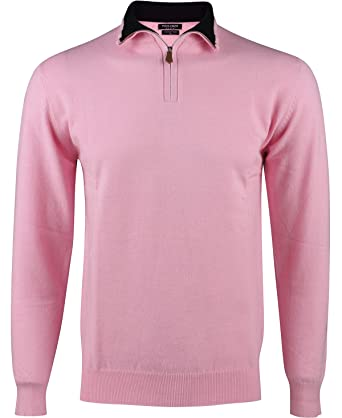 Yves Enzo - Pull col Camionneur - Homme - Rose  Amazon.fr  Vêtements ... 1cd704654068