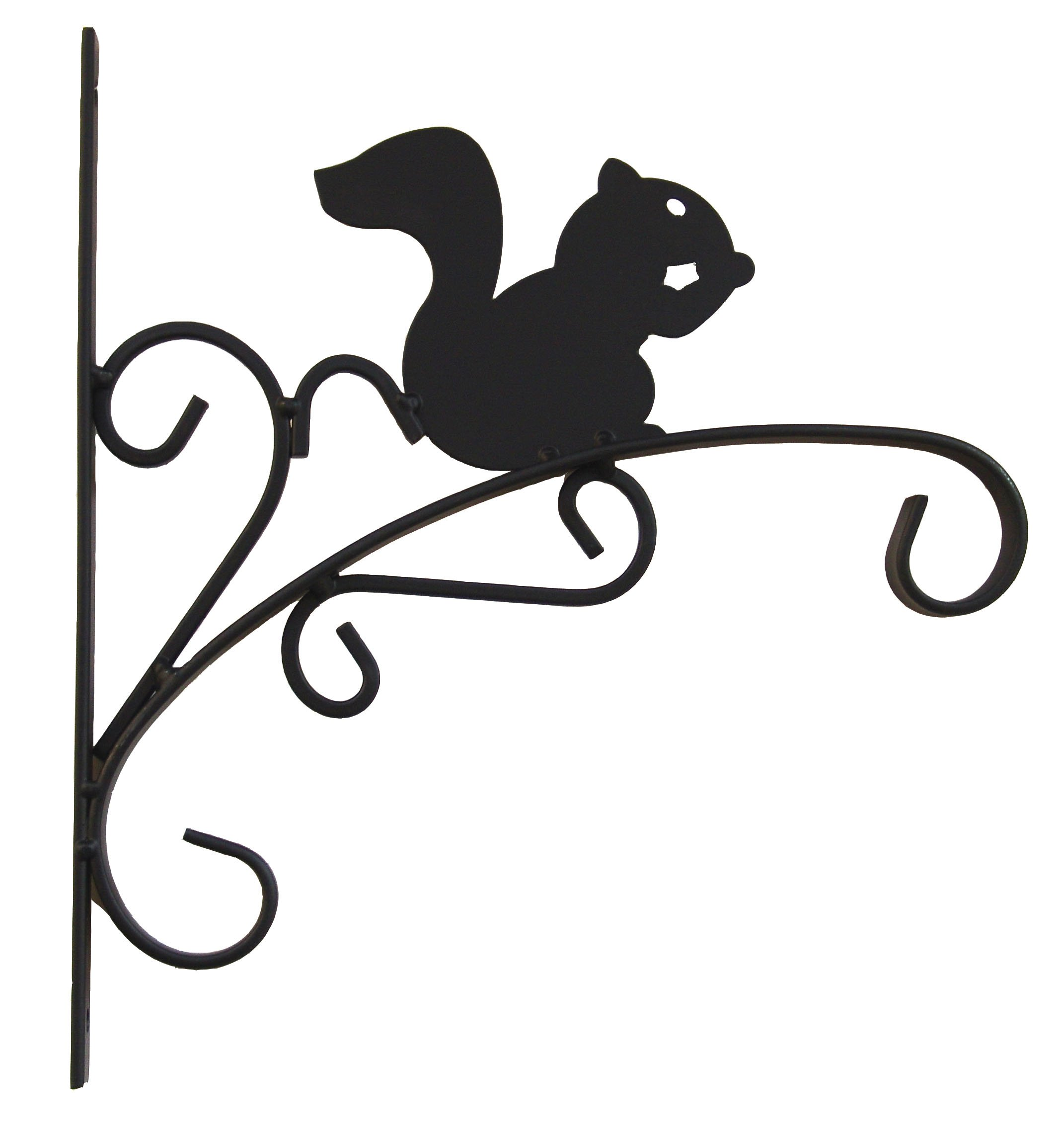 Worth Garden 12'' Metal Squirrel Plant Bracket