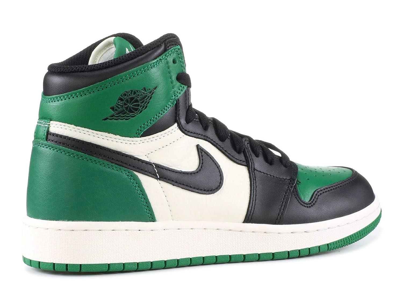super popular 1f647 587ef Amazon.com | AIR Jordan 1 Retro HIGH OG (GS) 'Pine Green ...
